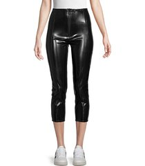 front-zip cropped pants