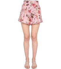 zimmermann cassia linen shorts
