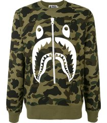 a bathing ape® camouflage print sweatshirt - green