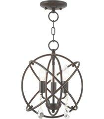 """livex aria 3 light 12"""" pendant"""