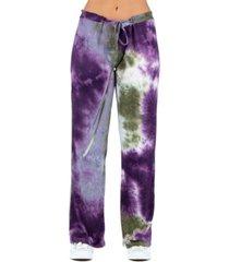 women's tie dye drawstring lounge pants