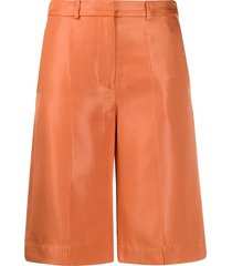 baum und pferdgarten wide leg knee length shorts - orange