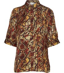 chellagz shirt ma19 blouses short-sleeved multi/patroon gestuz