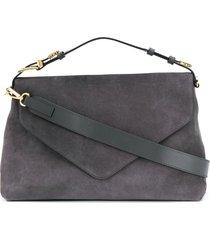 alberta ferretti buckle-handle tote bag - grey