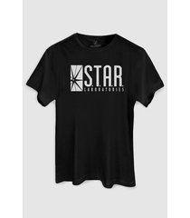 camiseta dc comics the flash serie star laboratories bandup!