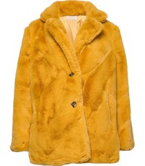 jennabel jacket outerwear faux fur geel unmade copenhagen