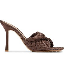 bottega veneta braided stretch sandals