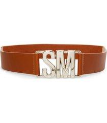 steve madden women's logo interlock stretch belt
