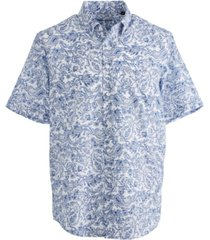 tasso elba linares printed shirt, created for macy's