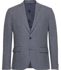 hopper soft-tech linen blazer colbert blauw j. lindeberg