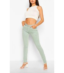 high waist stretch pastel skinny jeans, blue
