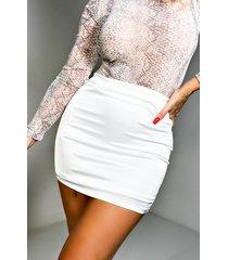 akira off to brunch satin mini skirt
