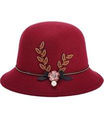 donne cappello di feltro elegante cappello a farfalla casual floreale decorazione cappello di secchio