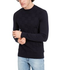 ax armani exchange men's check sweater