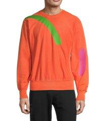 versace men's graphic crewneck sweatshirt - orange - size xxl