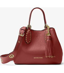 mk borsa a mano brooklyn piccola in pelle - brandy (marrone) - michael kors