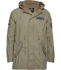 rookie aviator patched parka parka jas groen superdry