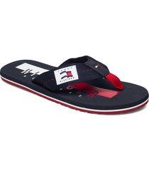 hilfiger badge beach sandal shoes summer shoes sandals blå tommy hilfiger