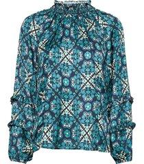 georgine blouse blouse lange mouwen blauw odd molly