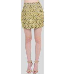 falda corta estampada de mujer aishop aw163-1115-010 amarillo