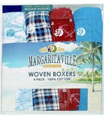 mens margaritaville 4pk woven boxers novelty kitschy tropical underwear m 32-34