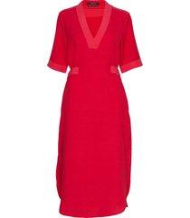 summer dress with d-rings at the waist jurk knielengte rood scotch & soda