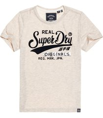 camiseta para mujer real originals flock metallic entry tee superdry