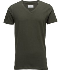 mens stretch v-neck tee s/s t-shirts short-sleeved grön lindbergh