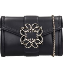 elie saab shoulder bag in black leather