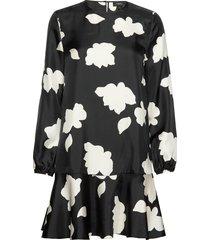 flared dress.petal s knälång klänning svart theory
