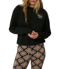 o'neill seaspray graphic crewneck sweatshirt, size medium in washed black at nordstrom