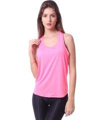 blusa simony lingerie regata aerosport euforia neon rosa