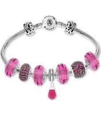 rhona sutton cubic zirconia multi-charm bracelet gift set in sterling silver