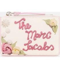 marc jacobs women's top zip multi wallet - cotton multi
