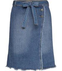 sherine denim skirt knälång kjol blå minus