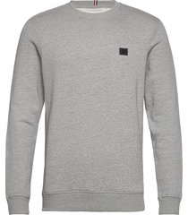 boozt piece sweatshirt sweat-shirt tröja grå les deux