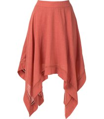 olympiah violette asymmetric skirt - orange