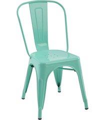 conjunto 04 cadeiras iron verde rivatti - verde - dafiti