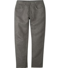 5-pocket-broek uit hennep/bio-katoen met visgraatpatroon, choco l