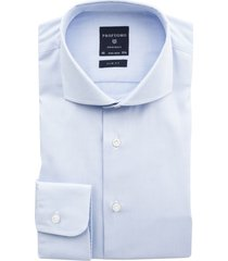 profuomo non iron overhemd slim fit lichtblauw
