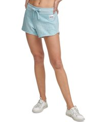 calvin klein performance printed french terry shorts