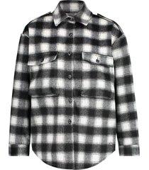 june jacket cream black checks