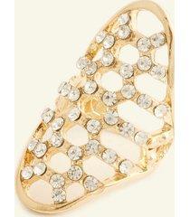 anillo mediano con cristales. uni