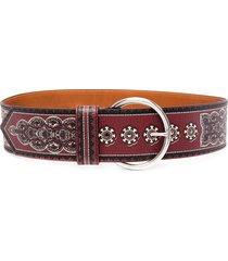 etro floral-print belt - red