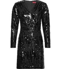 kelias-1 dresses sequin dresses svart hugo