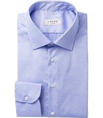 camicia da uomo su misura, ibieffe, comfort azzurra, quattro stagioni