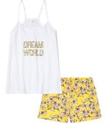 pigiama estivo con spalline sottili (bianco) - bpc bonprix collection