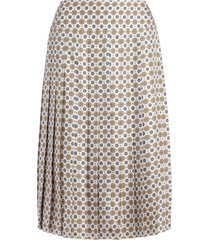 tory burch carmine ivory skirt with multicolor batik print