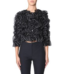 alexander mcqueen jacket with pleated levers