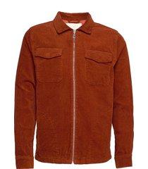 oscar cord jacket jeansjacka denimjacka orange fram